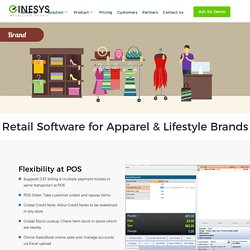 Retail ERP Software for clothing,apparel,footwear,sports equipment, cosmetics, accessories,home decor and home furnishing brands