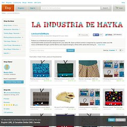 Textile accessories designed for your daily by LaIndustriaDeMayka