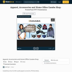 Apparel, Accessories and Home Office Casaba Shop PowerPoint Presentation - ID:10355801