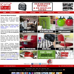 Classic Retro American Diner Furniture & Accessories from the Specialists - Cola Red®