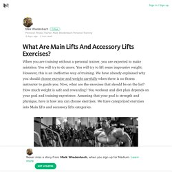 What Are Main Lifts And Accessory Lifts Exercises? – Maik Wiedenbach – Medium