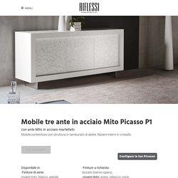 Mobile tre ante in acciaio Mito Picasso P1