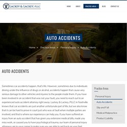 Well-known Car Accident Lawyer in Nashville TN – Lackey PLLC