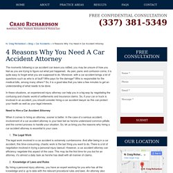Four Reasons Why You Need A Car Accident Attorney