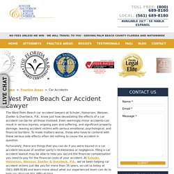 West Palm Beach Car Accident Lawyer, Auto Accident Attorneys