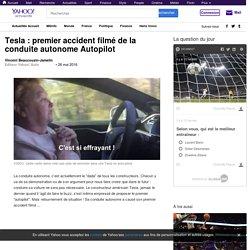 Tesla : premier accident filmé de la conduite autonome Autopilot