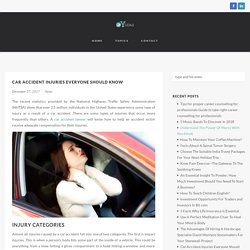 Most Common Car Accident Injuries Everyone Should Know