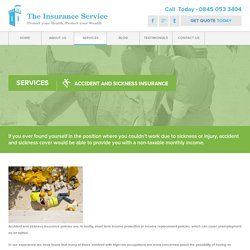 accident and sickness insurance for self employed