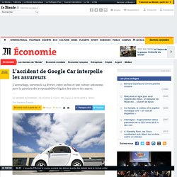 L'accident de Google Car interpelle les assureurs