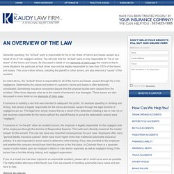 Find Car Accident Lawyer in Denver, Colorado At The Kaudy Law Firm LLC