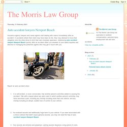 The Morris Law Group: Auto accident lawyers Newport Beach