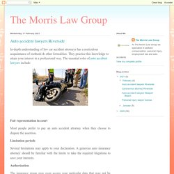 The Morris Law Group: Auto accident lawyers Riverside
