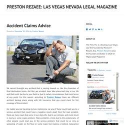 Preston Rezaee: Las Vegas Nevada Legal Magazine