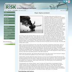 Year one - Case Studies, Piper Alpha accident, Centre of Risk for Health Care Research and Practice