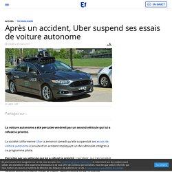 Après un accident, Uber suspend ses essais de voiture autonome