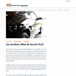 Ways To Deal With A Car Accident