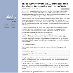 Three Ways to Protect EC2 Instances from Accidental Termination and Loss of Data · Alestic.com