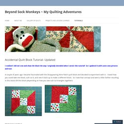 Beyond Sock Monkeys ~ My Quilting Adventures