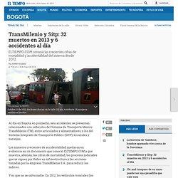 Crece accidentalidad en TransMilenio y SITP - Bogotá