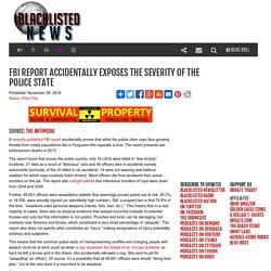 FBI Report Accidentally Exposes the Severity of the Police State