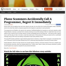 Phone Scammers Accidentally Call A Programmer, Regret It Immediately