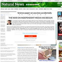 Science paper on vaccines accidentally admits most flu shots don't work – Nat...