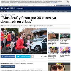 Accidente autocar AP-7: 'Mascletà' y fiesta por 20 euros, ya dormiréis en el bus