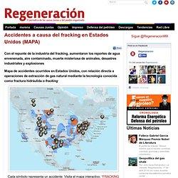 Accidentes a causa del fracking en Estados Unidos (MAPA)