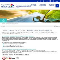 Les accidents de la route : réduire sa vitesse Assurance Prévention