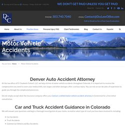 Best vehicle accident attorneys Denver