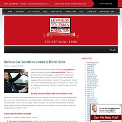 Serious Car Accidents Linked to Driver Error