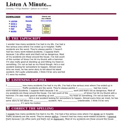 Accidents: Listen A Minute.com: English Listening Lesson