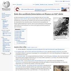 Liste des accidents ferroviaires en France au XIXesiècle