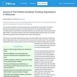 Source of The Perfect Accidents Trucking Orgnizations in Wisconsin