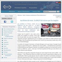 Accidents de train : la SNCF fait mieux que les Anglais
