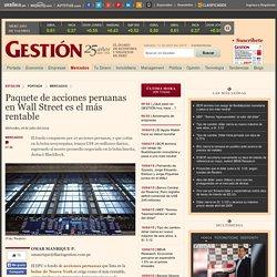 Paquete de acciones peruanas en Wall Street es el más rentable