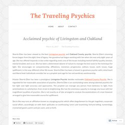 Acclaimed psychic of Livingston and Oakland
