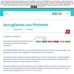 Accoglienza con Pinterest