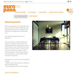 Europass Teacher Academy - Accommodation in a Shared Apartment