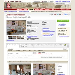 London Accommodation: 2 Bedroom Apartment Rental in Southwark (LN-528)