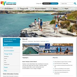 Bondi - Accommodation, Maps, Attractions & Events