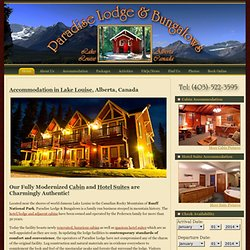 Paradise Lodge & Bungalows, Lake Louise, Alberta, Canada