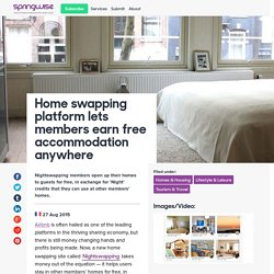 Home swapping platform lets members earn free accommodation anywhere