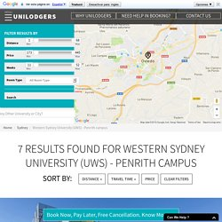 Student Accommodation near Western Sydney University (UWS) - Penrith Campus
