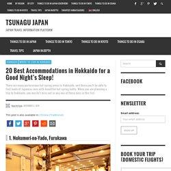 20 Best Accommodations in Hokkaido for a Good Night's Sleep!
