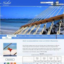 Hotel rates at Nevis' Nisbet Plantation