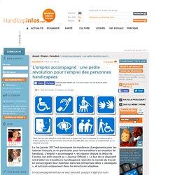 L'emploi accompagné: une petite révolution pour l'emploi des personnes handicapées