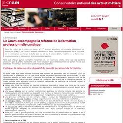 Le Cnam accompagne la réforme de la formation professionnelle continue - Presse - Cnam -