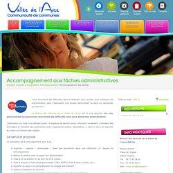 Accompagnement aux tâches administratives « Communauté de communes de la Vallée de l'AnceCommunauté de communes de la Vallée de l'Ance