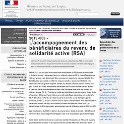 2013-008 - L'accompagnement des bénéficiaires du revenu de solidarité active (RSA)